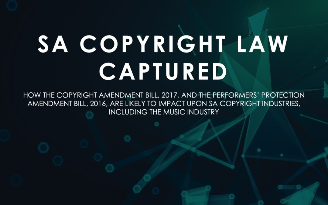 SA Copyright Law Captured
